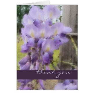 Thank You - Soft Focus Wisteria Card