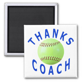 Thank You Softball Coach Greeting Cards & Gifts Square Magnet