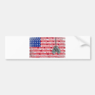 Thank You Soldier Dog Tags Bumper Sticker