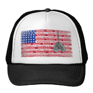 Thank You Soldier Dog Tags Hats