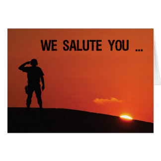 Thank You Soldier Salute at Sunset Card
