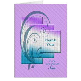 Thank you son, with elegant rectangles card