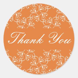 Thank You Spiral Swirls Envelope Sticker Seal