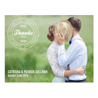 THANK YOU STAMP 2014 WEDDING THANK YOU POSTCARD