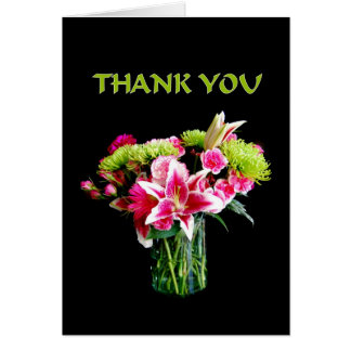 Thank You, Stargazer Lily Bouquet Cards