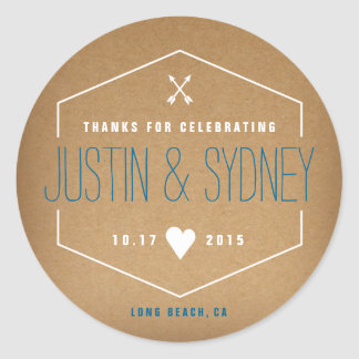 Thank you sticker for wedding favors
