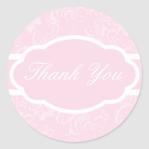 Thank You Sticker (Sophisticated Pale Pink)
