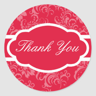 Thank You Sticker (Sophisticated Red)