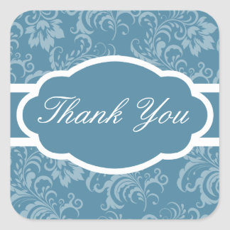 Thank You Sticker (Sophisticated Steel Blue)
