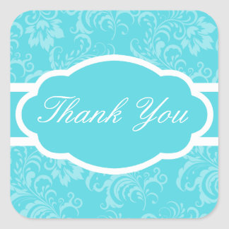 Thank You Sticker (Sophisticated Teal)