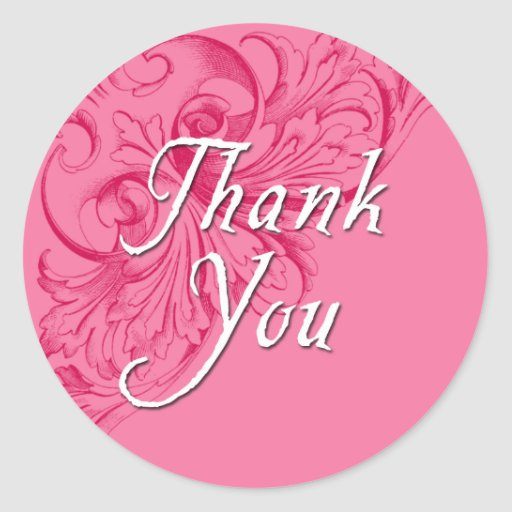 Thank You Stickers in Pink