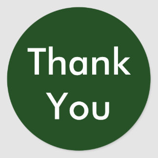 Thank You Stickers on Dark Green Background