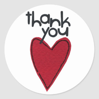 THank you stikers Classic Round Sticker