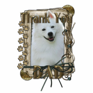 Thank You - Stone Paws - American Eskimo - Dad Standing Photo Sculpture