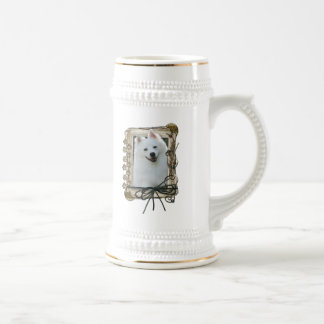 Thank You - Stone Paws - American Eskimo Beer Steins
