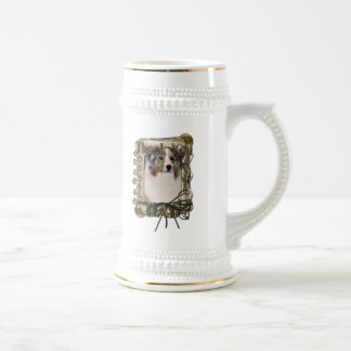 Thank You - Stone Paws - Australian Shepherd - Dad Beer Steins