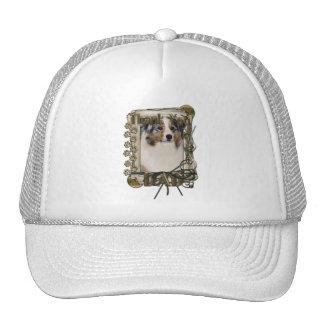 Thank You - Stone Paws - Australian Shepherd - Dad Mesh Hat