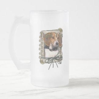 Thank You - Stone Paws - Beagle Coffee Mugs