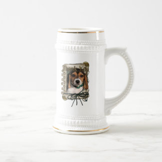 Thank You - Stone Paws - Beagle Puppy Beer Steins