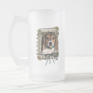 Thank You - Stone Paws - Beagle Puppy Frosted Glass Mug