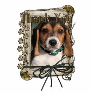 Thank You - Stone Paws - Beagle Puppy Photo Sculptures