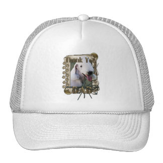 Thank You - Stone Paws - Bedlington Terrier - Dad Trucker Hat
