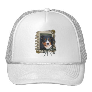 Thank You - Stone Paws - Bernese Mountain Dog Trucker Hat