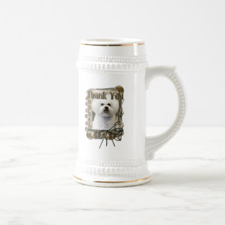 Thank You - Stone Paws - Bichon Frise - Dad Beer Stein