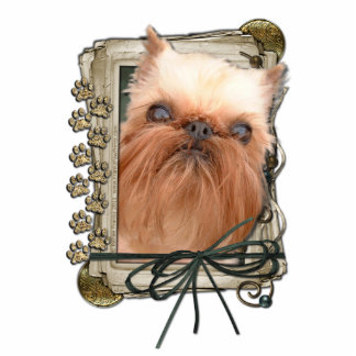 Thank You - Stone Paws - Brussels Griffon Cut Out