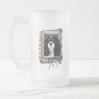 Thank You - Stone Paws - Cavalier 16 Oz Frosted Glass Beer Mug