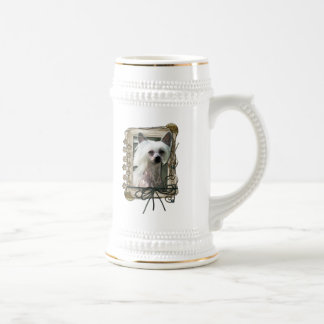 Thank You - Stone Paws - Chinese Crested - Kahlo Beer Steins