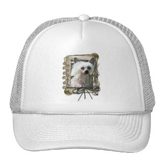 Thank You - Stone Paws - Chinese Crested - Kahlo Trucker Hat