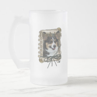Thank You - Stone Paws - Corgi Frosted Glass Mug