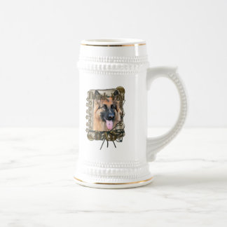 Thank You - Stone Paws -German Shepherd Chance Dad Beer Steins