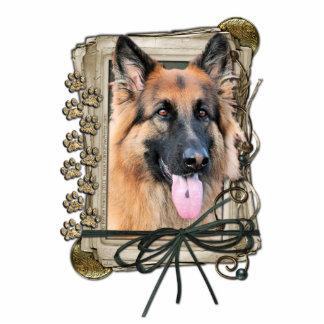 Thank You - Stone Paws - German Shepherd - Chance Standing Photo Sculpture