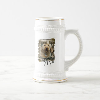 Thank You - Stone Paws - GoldenDoodle Beer Steins