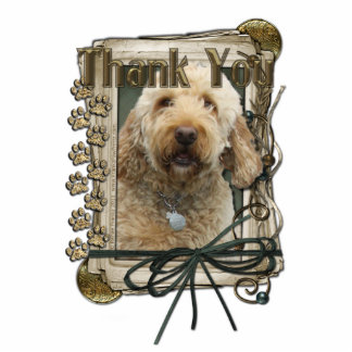 Thank You - Stone Paws - GoldenDoodle Photo Cut Out
