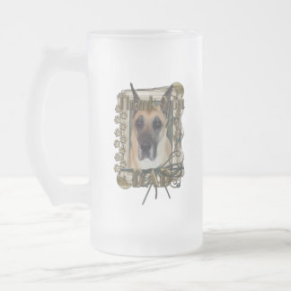 Thank You - Stone Paws - Great Dane - Dad Frosted Glass Mug