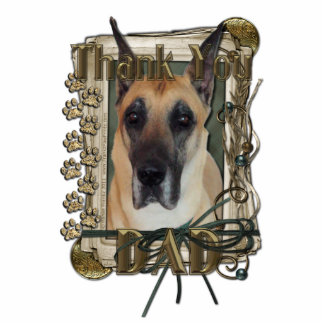 Thank You - Stone Paws - Great Dane - Dad Standing Photo Sculpture