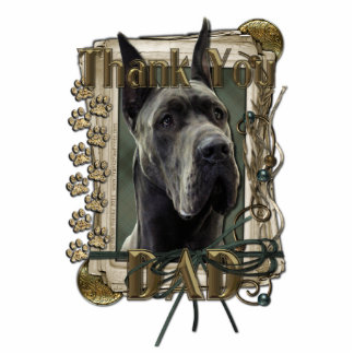 Thank You - Stone Paws - Great Dane - Grey - Dad Photo Sculpture