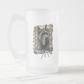 Thank You - Stone Paws - Great Dane - Grey Frosted Glass Mug