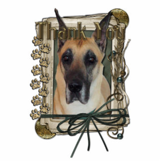 Thank You - Stone Paws - Great Dane Standing Photo Sculpture