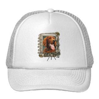 Thank You - Stone Paws - Irish Setter - Dad Trucker Hat