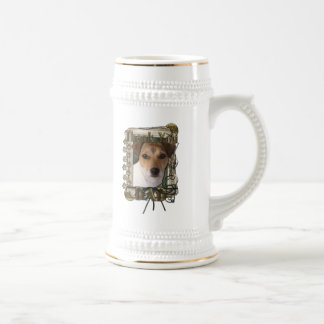 Thank You - Stone Paws - Jack Russell - Dad 18 Oz Beer Stein