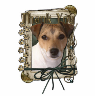 Thank You - Stone Paws - Jack Russell Standing Photo Sculpture