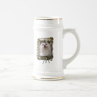 Thank You - Stone Paws - Maltese - Dad Beer Steins