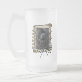 Thank You - Stone Paws - Newfoundland Frosted Glass Beer Mug