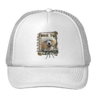 Thank You - Stone Paws - Poodle - Apricot Trucker Hat
