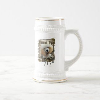 Thank You - Stone Paws - Poodle - Apricot - Dad 18 Oz Beer Stein