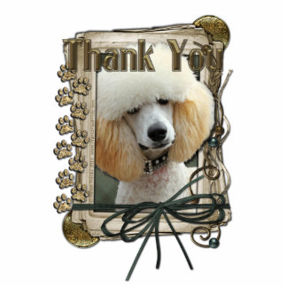 Thank You - Stone Paws - Poodle - Apricot Cut Out